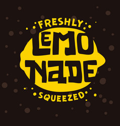 Freshly squeezed lemonade typographic logo label vector