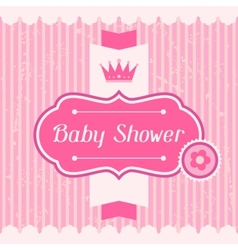 Girl baby shower invitation card vector