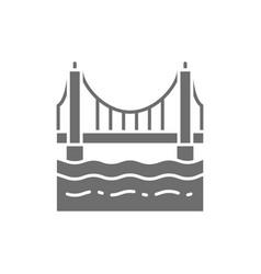 golden gate bridge san francisco usa grey icon vector image