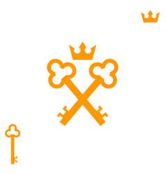 golden keys logo vector image