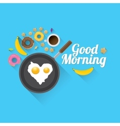 Good morning concept food background vector