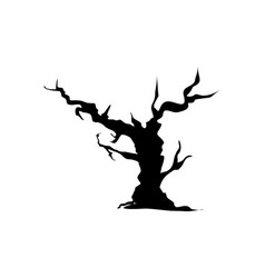 halloween bare tree icon vector image