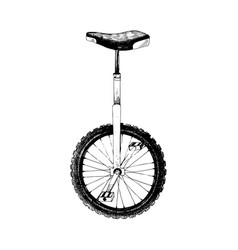 hand drawn monocycle vector image