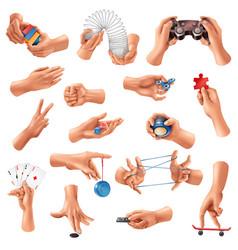 Hand games set vector