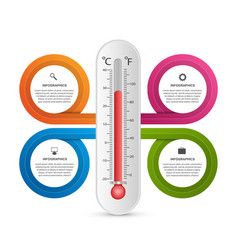 infographics thermometer design template vector image