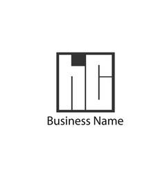 Initial letter hc logo template design vector