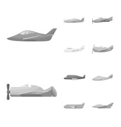 Isolated object aviation and airline icon vector