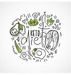 Keto diet food - sketch - two vector