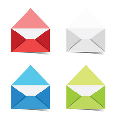 letter envelope colored set vector image