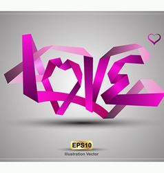 LOVE origami vector
