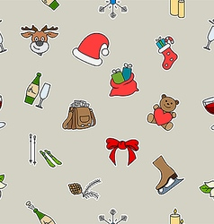 Lovely holiday symbols vector image