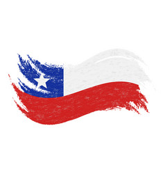 national flag of chile designed using brush vector image