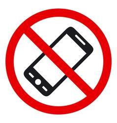 No phone sign vector