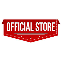 Official store banner design vector