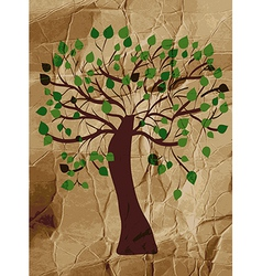 Organic tree on the paper background vector image