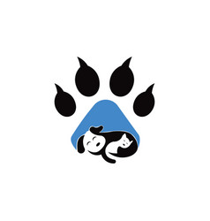 Pets logo template this cat and dog logo co vector