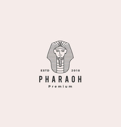 pharaoh logo hipster retro vintage label vector image