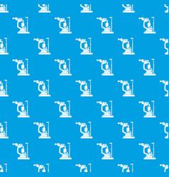 Phoropter pattern seamless blue vector