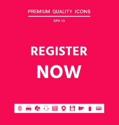 register now button graphic elements for your vector image