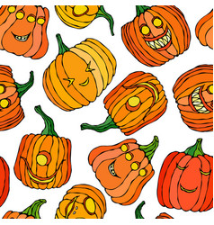 seamless endless halloween background with the vector image