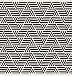 Seamless interlaced stylish pattern vector