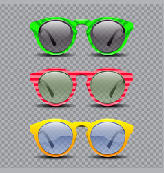 set of vintage sun glasses vector image