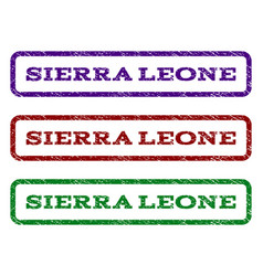Sierra leone watermark stamp vector