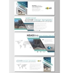 Social media and email headers set modern banner vector
