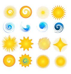 star sun symbol set vector image