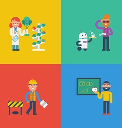 STEM characters concept vector