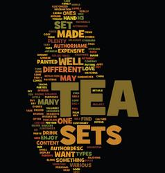 Tea sets text background word cloud concept vector