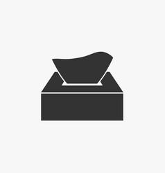 tissue paper box icon vector image