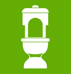 Toilet bowl icon green vector