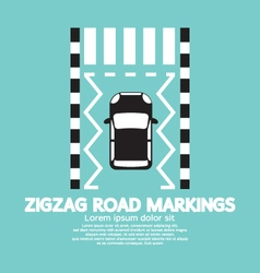 Top View Of Zigzag Road Markings vector image