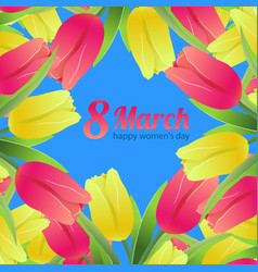 Tulips simless pattern card8 vector