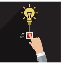 Turn on idea vector image