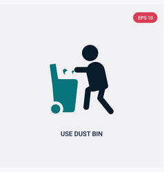 Two color use dust bin icon from maps and flags vector