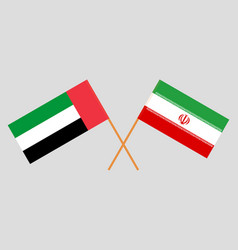 Uae and iranian flags vector
