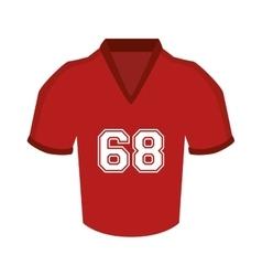 Uniform t-shirt football american icon vector