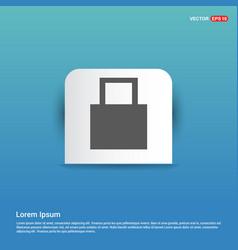 web lock icon - blue sticker button vector image