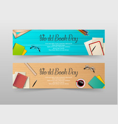 world book day banners template vector image
