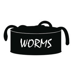 Worms icon simple style vector