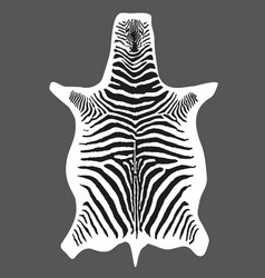 zebra skin print black and white vector image