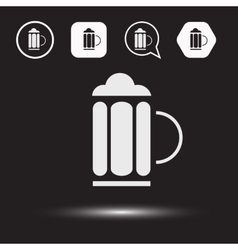 Beer beverage icons Beer logo vector image vector image