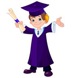 Boy Graduates vector image