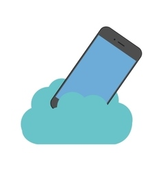 cloud technology smartphone digital device vector image