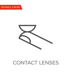 contact lenses icon vector image vector image