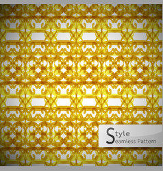 flower gold bow mesh geometric seamless pattern vector image vector image