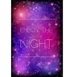 Glittering stars on purple background vector image