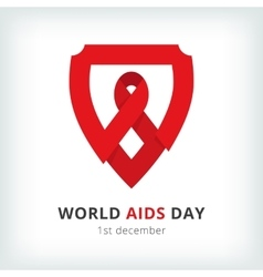 world aids day symbol icon vector image vector image